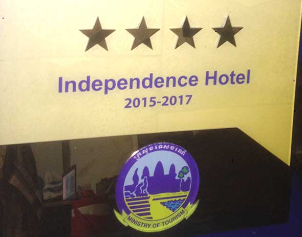 Hotel Rating by Ministry of Tourism Cambodia