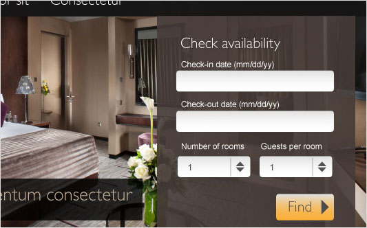Online booking reservation systems capital arts for Hotel booking design