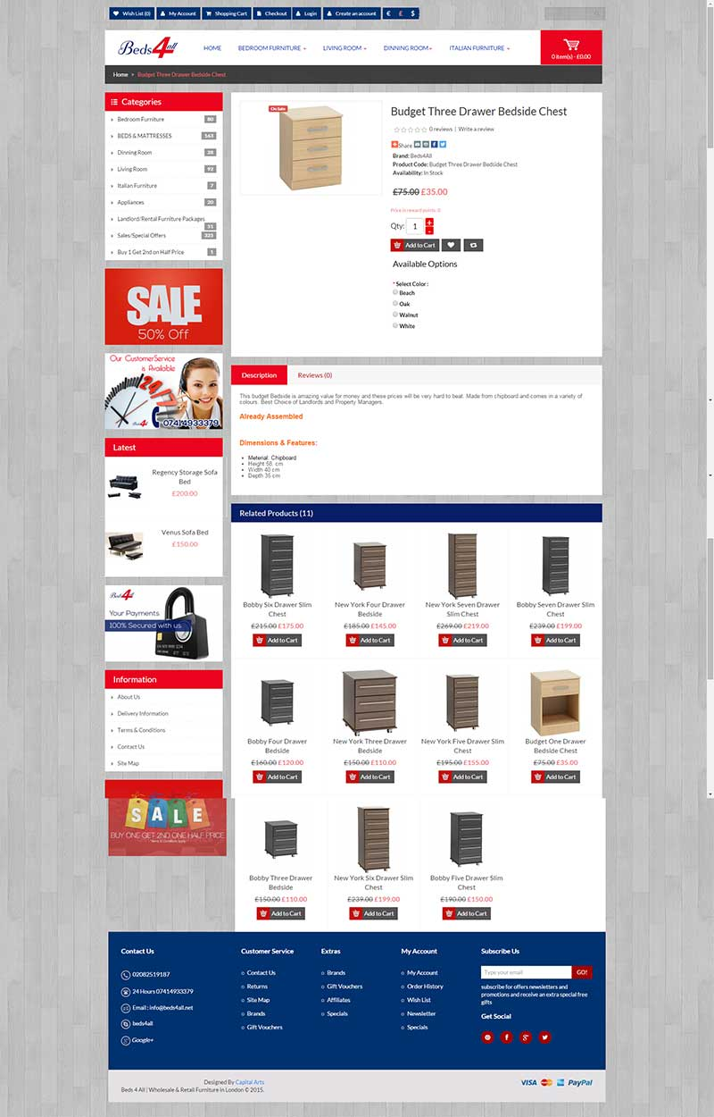 e-commerce-website-furniture-beds4all-london-2